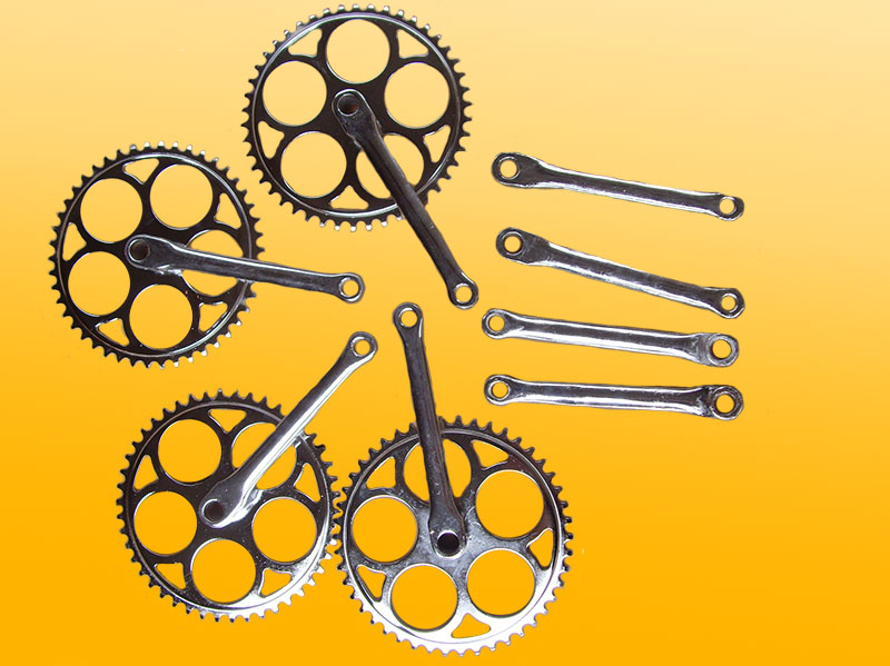 bicycle chainwheel of old style for 28